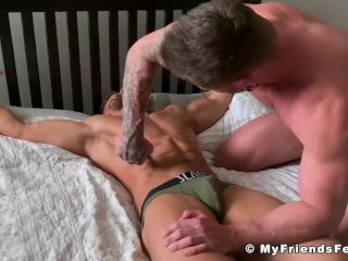 Tied up bare feet hunk Ryan Yule softcore tickled and tormented