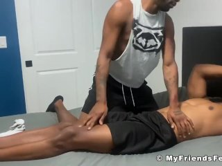 Barefoot black dude Lawrence softcore feet tickle torment