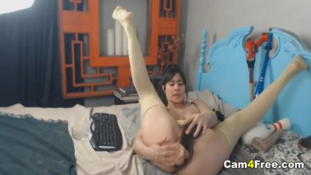 Sexy Babe Fucking With Two Dildo