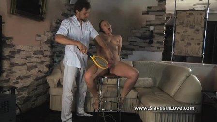 Pretty Slave Girl Dominated By A Cruel Master.