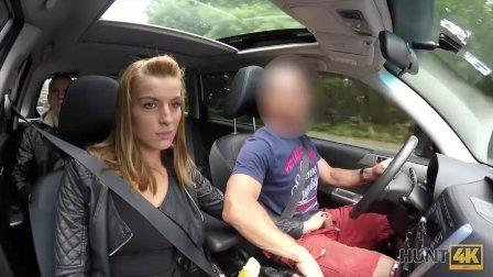 HUNT4K. Hottie has crazy sex for money in the strangers car