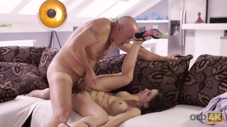 OLD4K. Bald handsome dad has powerful cock for busty brunette Mira Cuckold