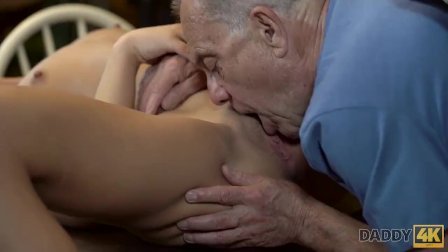 DADDY4K. Guy catches girlfriend Anna Rose and dad having sex in middle of b