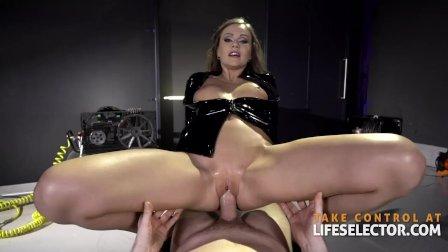 Sexy step-mom Tina Kay reveals her naughty latex fetish