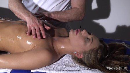 Baby girl on massage