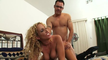 Insatiable busty blonde MILF loves being pounded hard