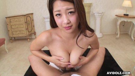 Japanese gal  Satomi Suzuki is rubbing dick  uncensored