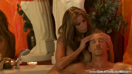 She Massage sHis Cock To Health
