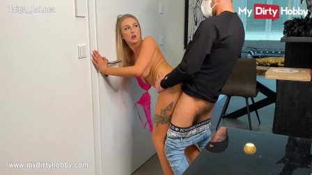 MyDirtyHobby - Gorgeous blonde fucks the delivery guy