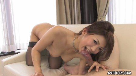 Japanese cock teaser, Runa Sezaki is horny, uncensored
